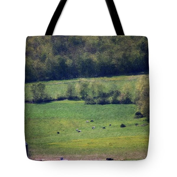 Dairy Farm In The Finger Lakes Tote Bag by David Lane