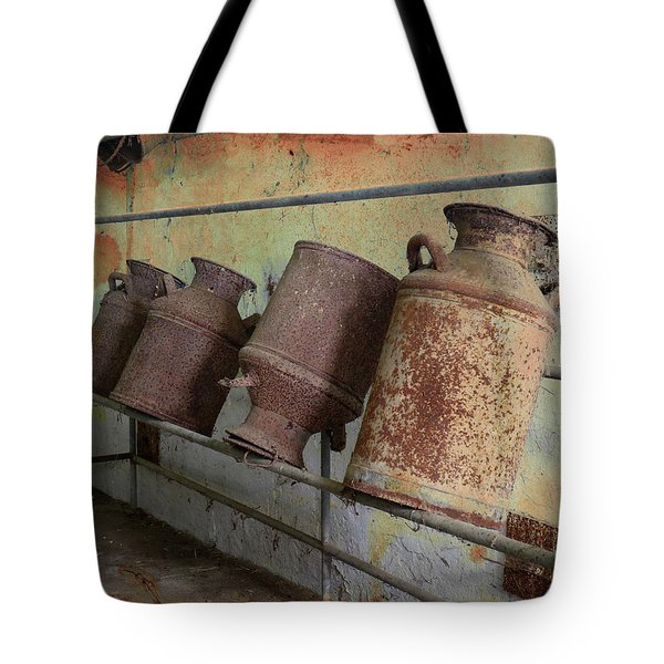 Dairy Farm Relics Tote Bag by Scott Kingery
