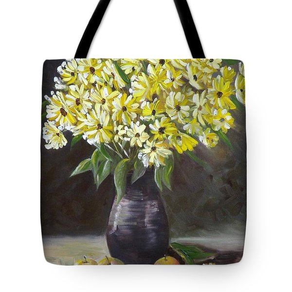 Daisies And Apples  Tote Bag