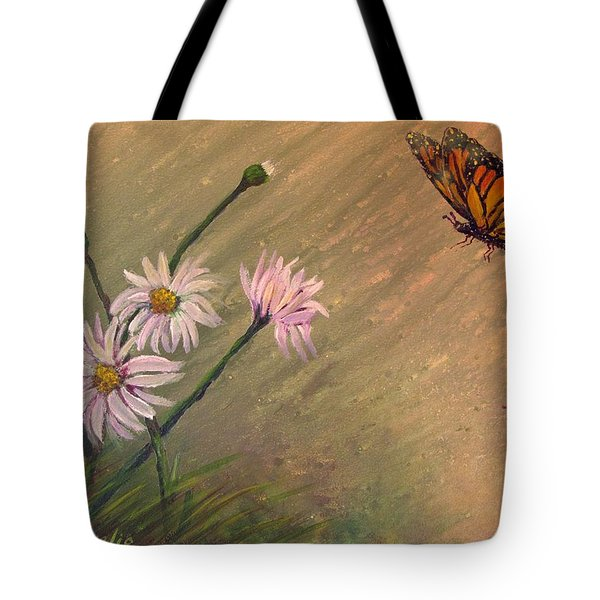 Daisies And Butterfly Tote Bag
