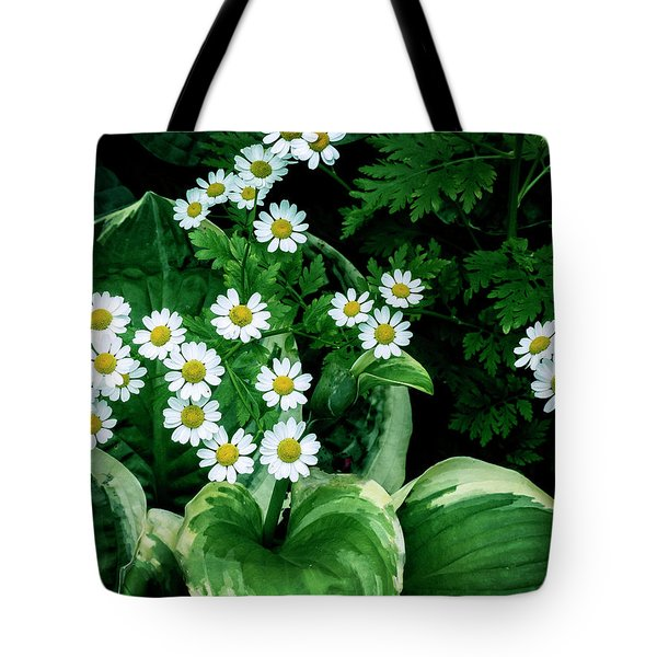 Daisies And Hosta In Colour Tote Bag