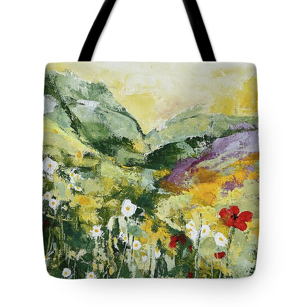 Daisies And Poppies Tote Bag