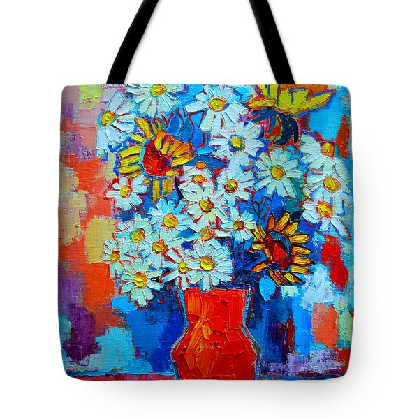 Daisies And Sunflowers Tote Bag by Ana Maria Edulescu