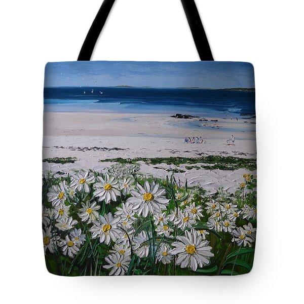 Daisies Connemara Ireland Tote Bag by Diana Shephard
