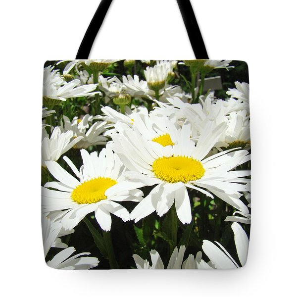 Daisies Floral Landscape Art Prints Daisy Flowers Baslee Troutman Tote Bag by Baslee Troutman