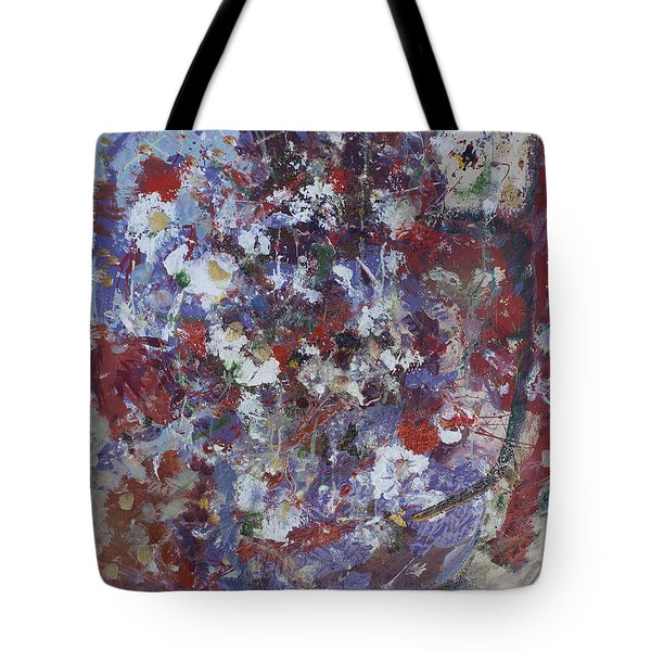 Tote Bag featuring the painting Daisies In Purple by Avonelle Kelsey