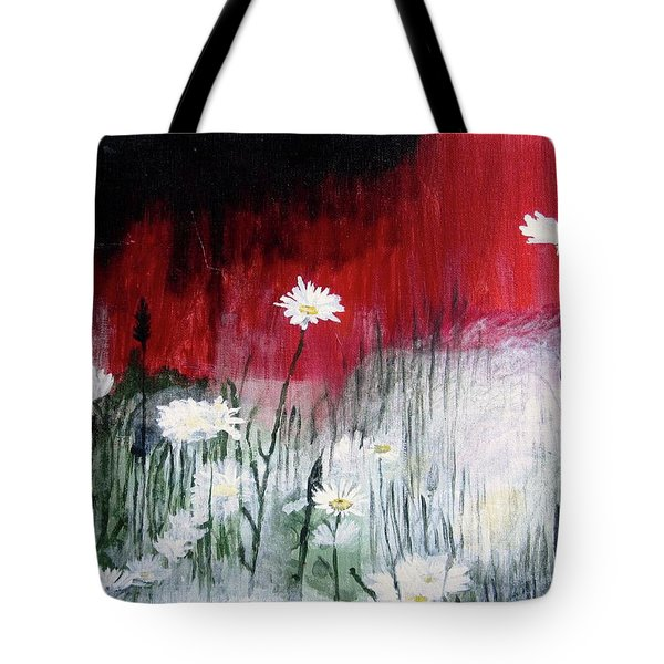 Tote Bag featuring the painting Daisies by Mary Ellen Frazee
