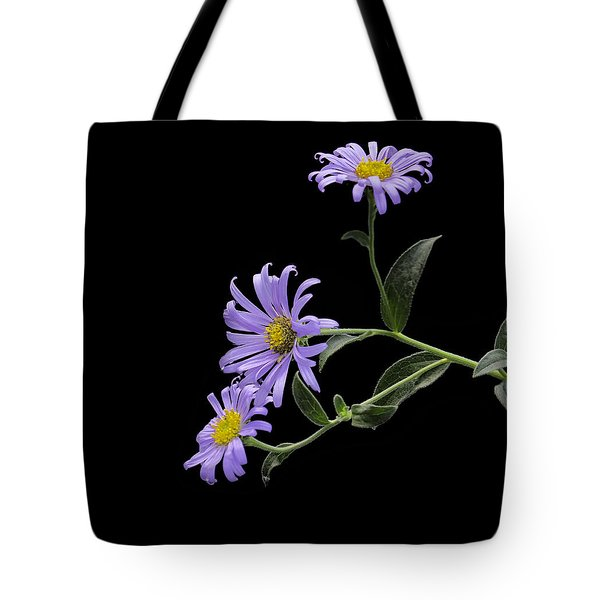 Daisies On Black Tote Bag