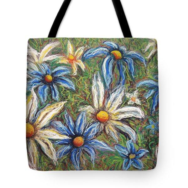Daisies Pastel Tote Bag by Nancy Mueller