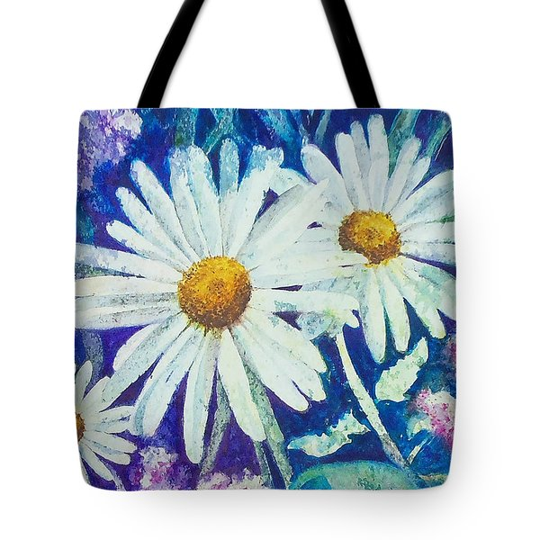 Tote Bag featuring the painting Daisies by Susan DeLain