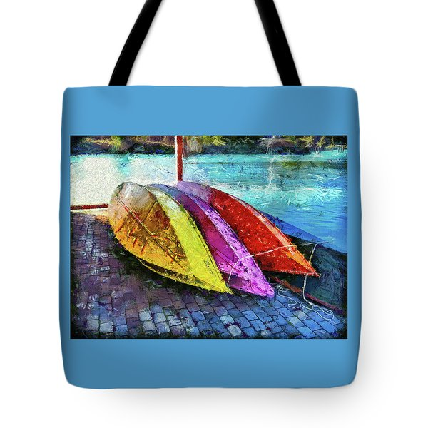 Tote Bag featuring the photograph Daisy And The Rowboats by Thom Zehrfeld