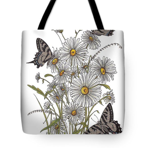 Tote Bag featuring the painting Daisy At Your Feet by Stanza Widen