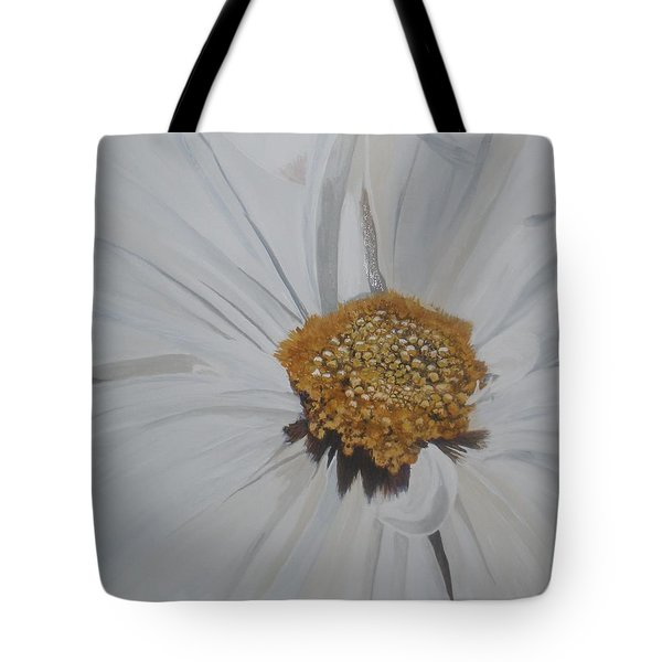 Tote Bag featuring the painting Daisy by Betty-Anne McDonald