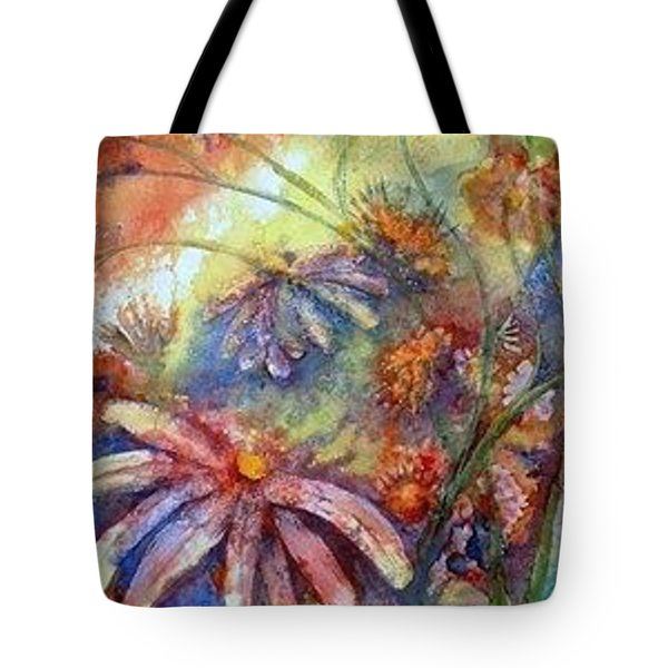 Tote Bag featuring the painting Daisy Blues by Renate Nadi Wesley