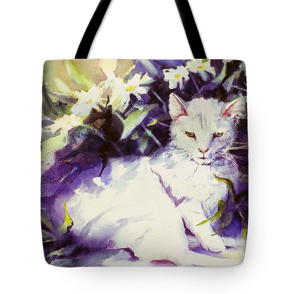 Daisy Cat Tote Bag