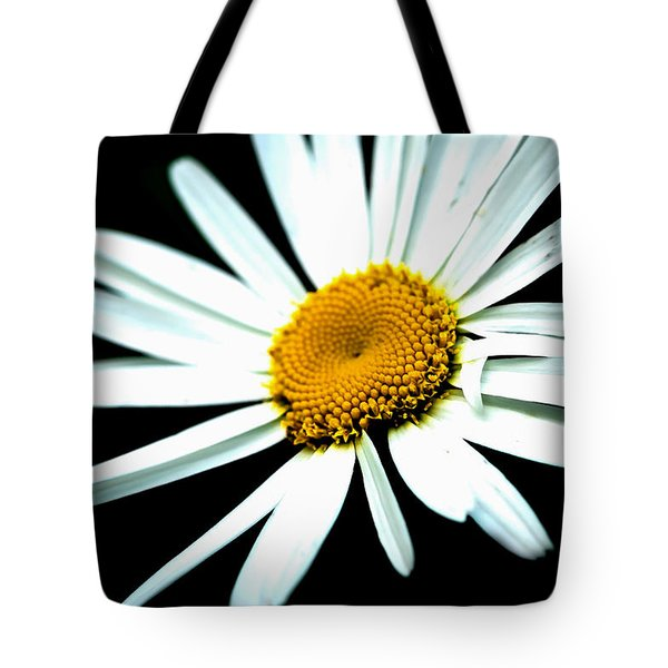 Tote Bag featuring the photograph Daisy Flower - White Sun by Alexander Senin