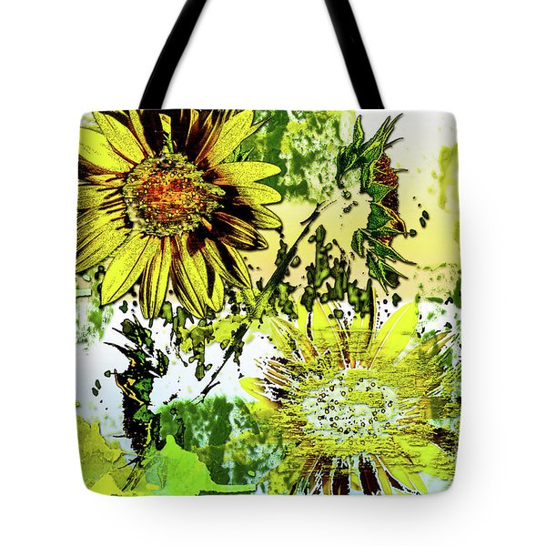 Sunflower On Water Tote Bag