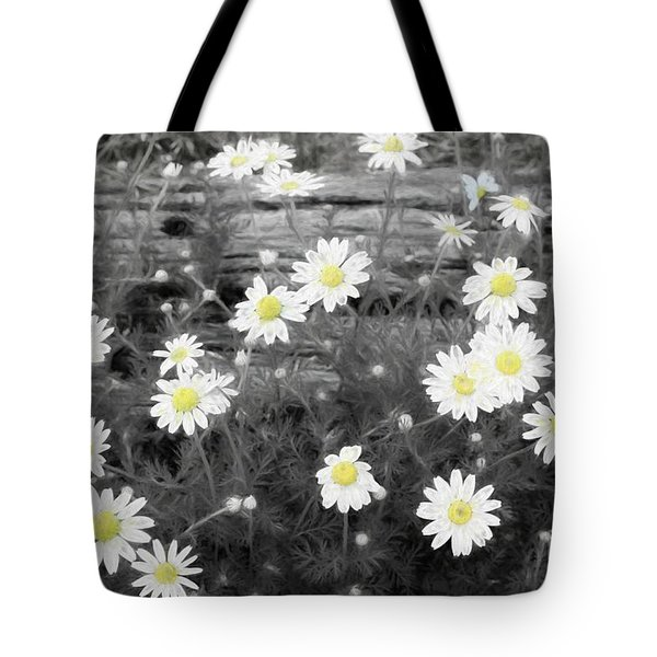 Tote Bag featuring the photograph Daisy Patch by Benanne Stiens