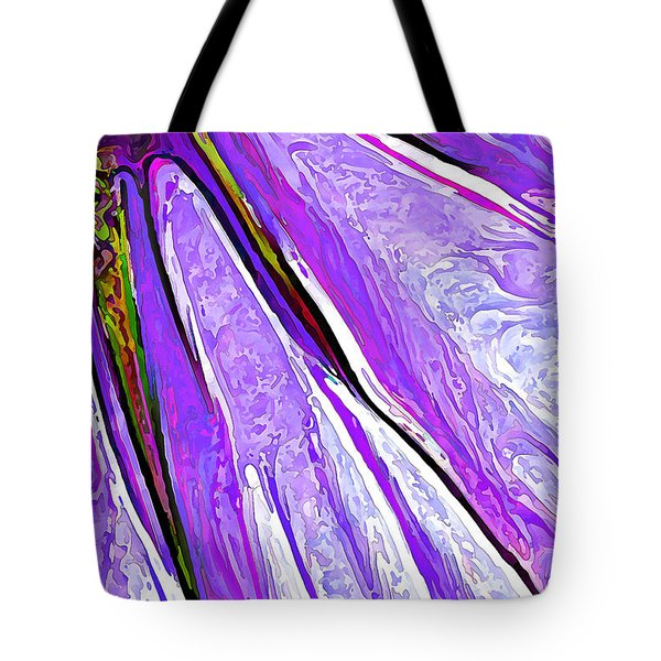 Daisy Petal Abstract In Grape Tote Bag