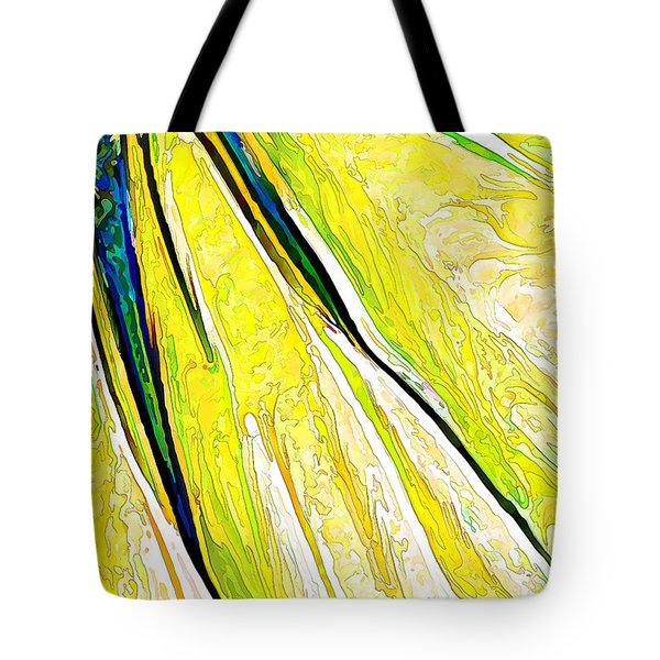 Daisy Petal Abstract In Lemon-lime Tote Bag by ABeautifulSky Photography