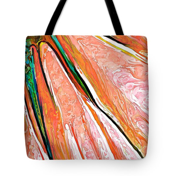 Daisy Petal Abstract In Salmon Tote Bag