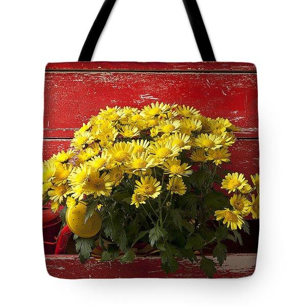 Daisy Plant In Drawers Tote Bag by Garry Gay