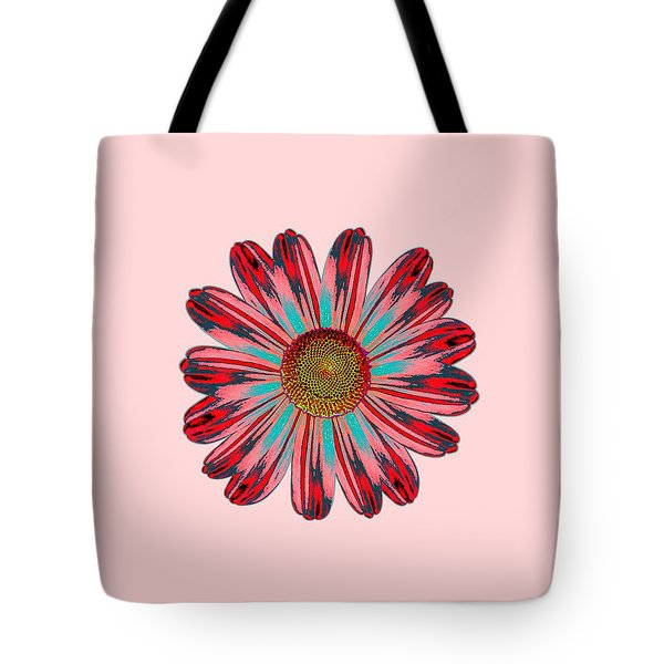 Daisy Pop Art Tote Bag by Priscilla Wolfe