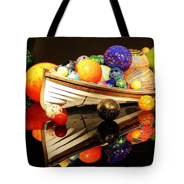 Glass Sculpture Boat Tote Bag