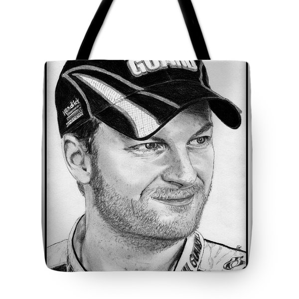 Dale Earnhardt Jr In 2009 Tote Bag
