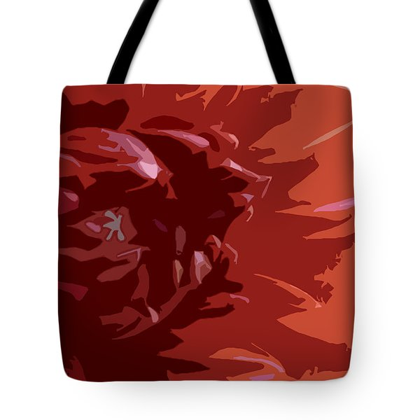 Dahlia On Fire Tote Bag