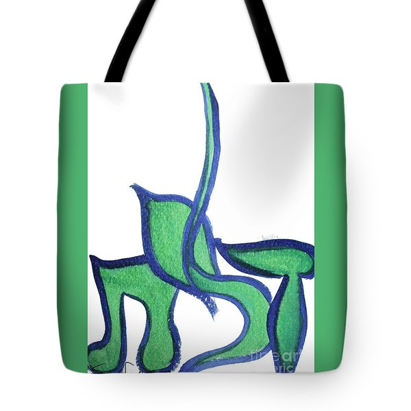 Tote Bag featuring the painting Dalit Nf1-176 by Hebrewletters Sl