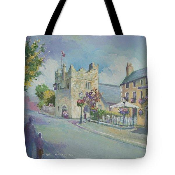 Dalkey Castle Tote Bag by Paul Weerasekera