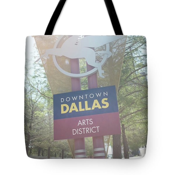 Tote Bag featuring the photograph Dallas Arts District by Robert Bellomy