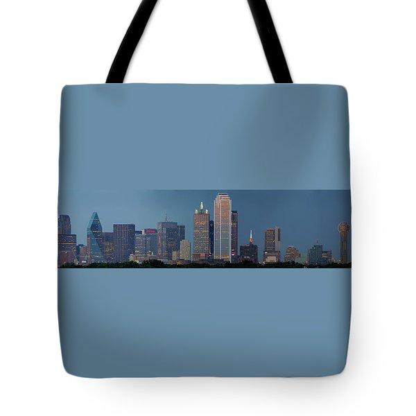 Dallas At Night Tote Bag by Jonathan Davison