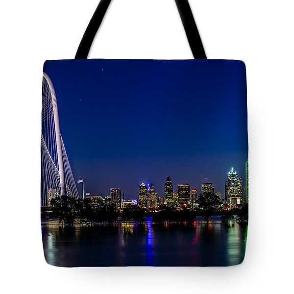 Dallas At Night Tote Bag by Tamyra Ayles