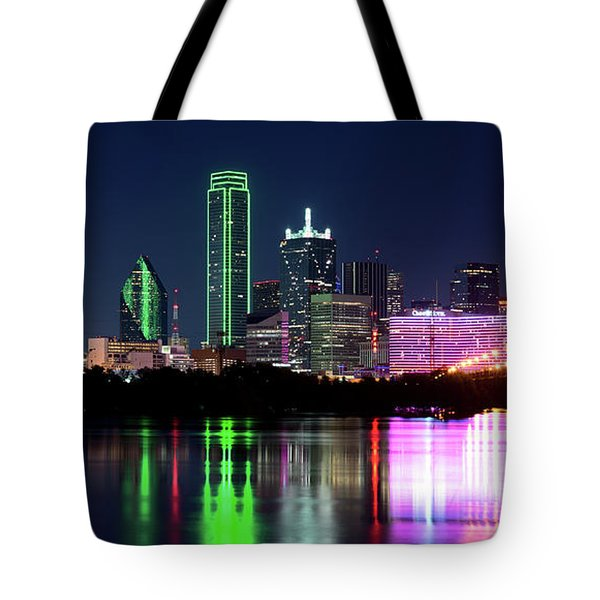 Dallas Colorful Night 52716 Tote Bag
