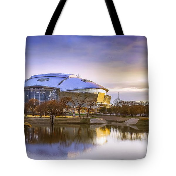 Tote Bag featuring the photograph Dallas Cowboys Stadium Arlington Texas by Robert Bellomy