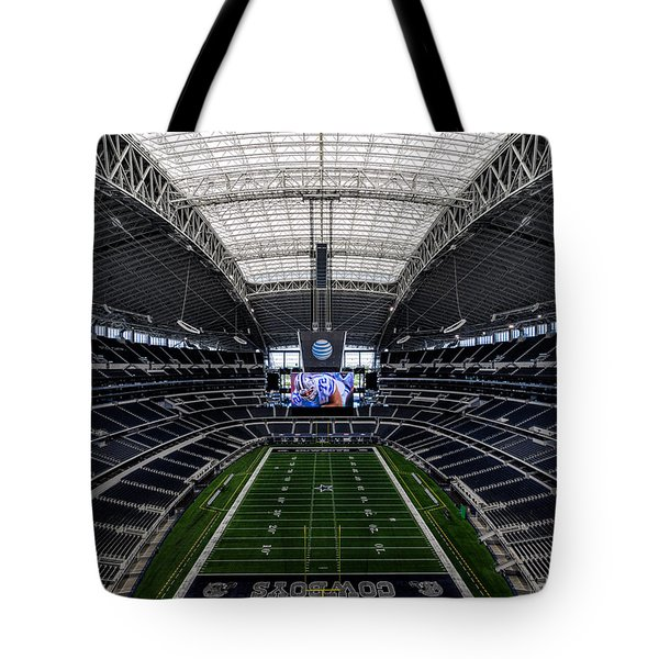 Dallas Cowboys Stadium End Zone Tote Bag