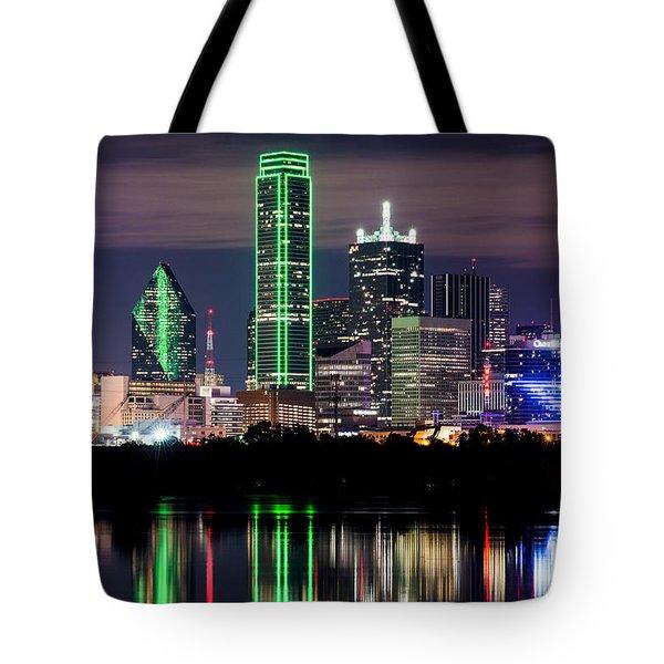 Dallas Cowboys Star Skyline Tote Bag