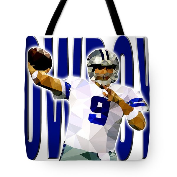 Tote Bag featuring the digital art Dallas Cowboys by Stephen Younts
