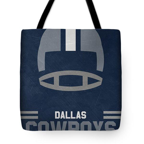 Dallas Cowboys Vintage Art Tote Bag by Joe Hamilton
