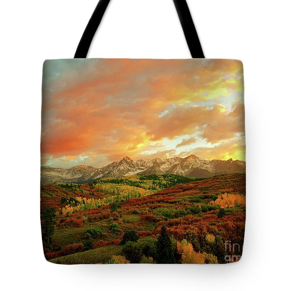 Dallas Divide Sunset Tote Bag