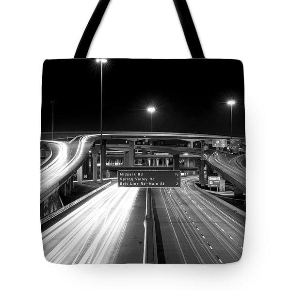 Dallas High Five Bw Tote Bag