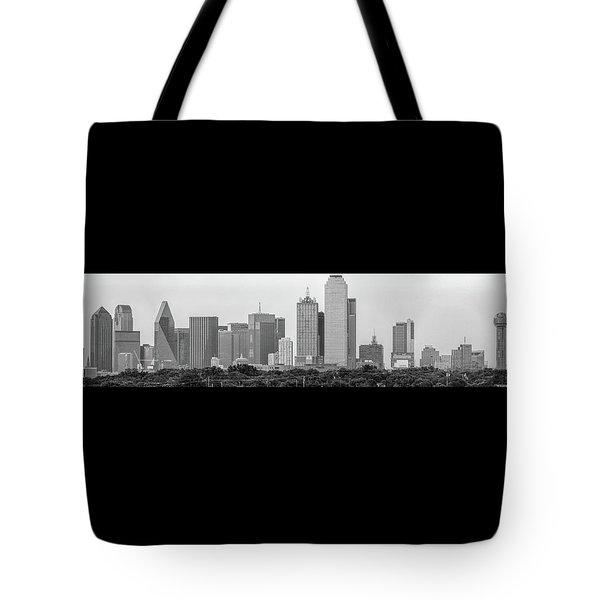 Dallas In Black And White Tote Bag by Jonathan Davison