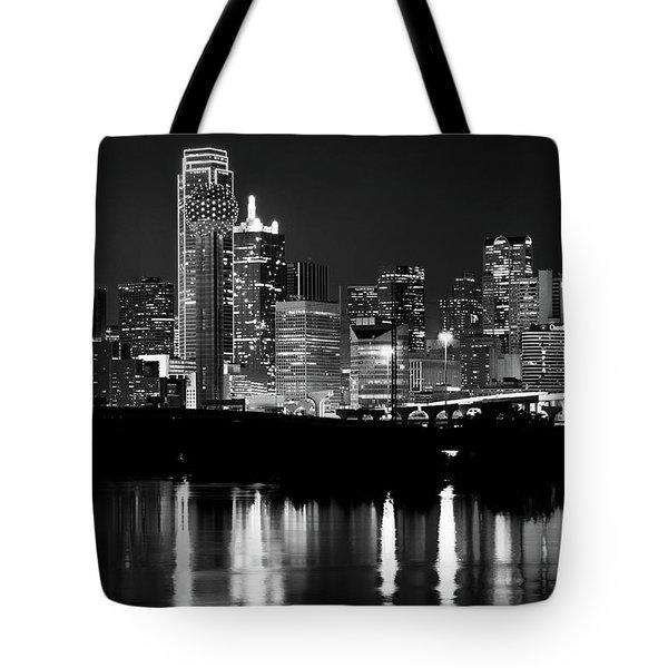 Dallas Nights Bw 6816 Tote Bag