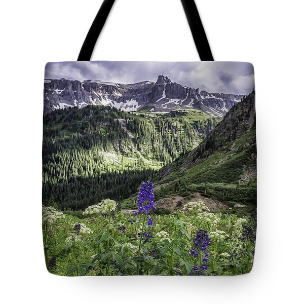 Tote Bag featuring the photograph Dallas Peak by Bitter Buffalo Photography