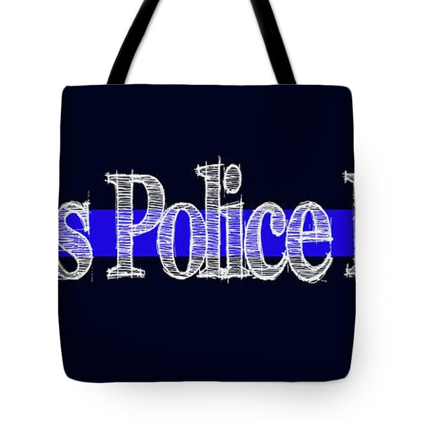 Dallas Police Dept. Blue Line Mug Tote Bag