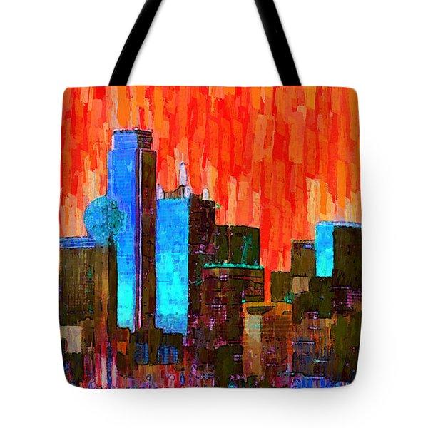 Dallas Skyline 61 - Da Tote Bag