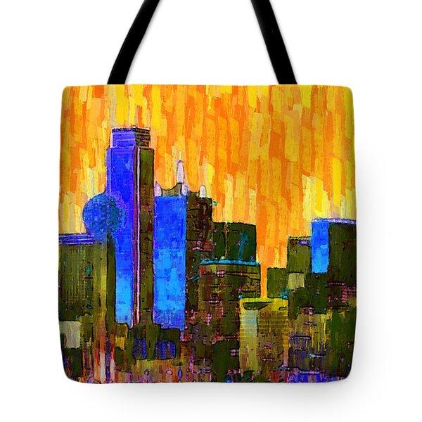 Dallas Skyline 62 - Pa Tote Bag
