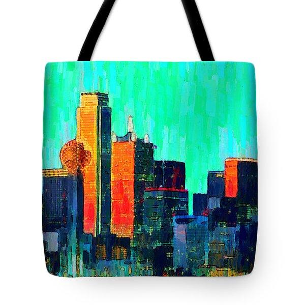 Dallas Skyline 74 - Pa Tote Bag